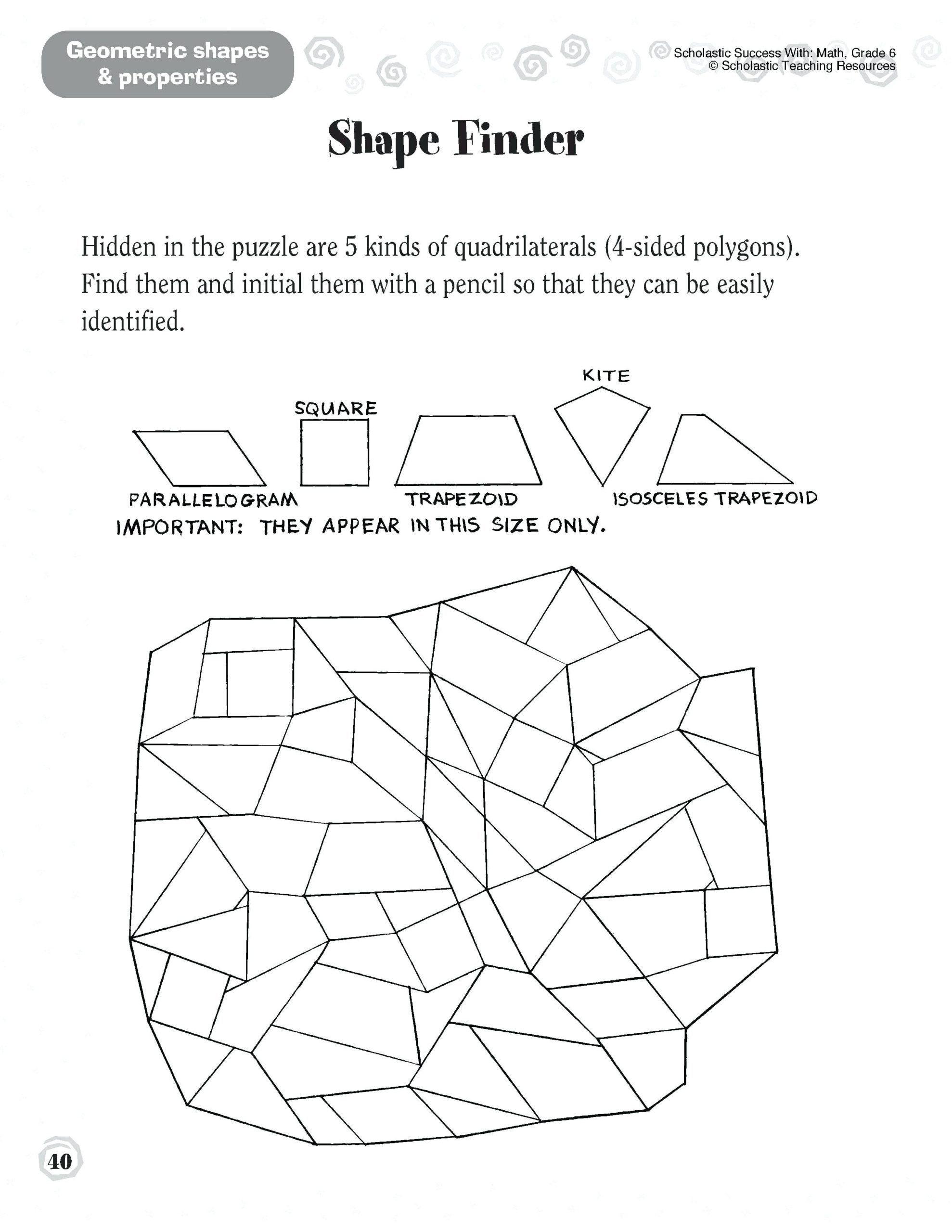 3rd Grade Quadrilaterals Worksheets Parallelogram Worksheets Math Grade  Quadrilaterals Worksheet   Education math [ 2560 x 1978 Pixel ]