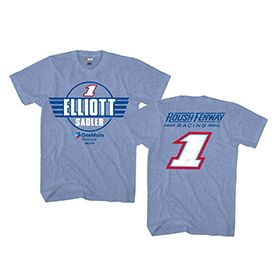 Roush Automotive Collection Store - Elliott Sadler One Main Fan Up Tee (3072), $25.00 (http://store.roushcollection.com/drivers/elliott-sadler-one-main-fan-up-tee-3072/)