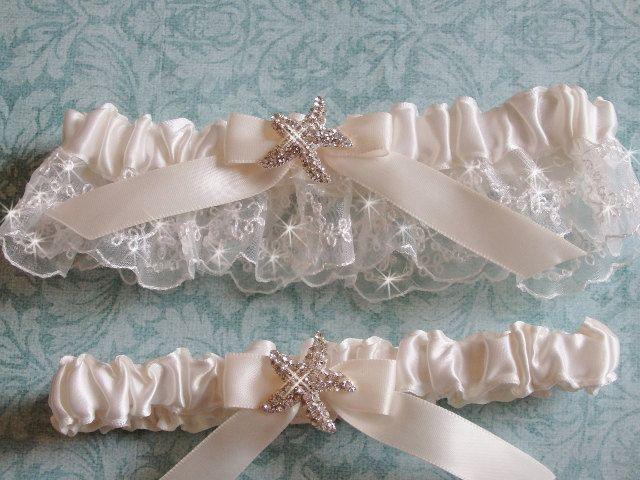 Beach Wedding Garter Set Starfish Bridal Garder