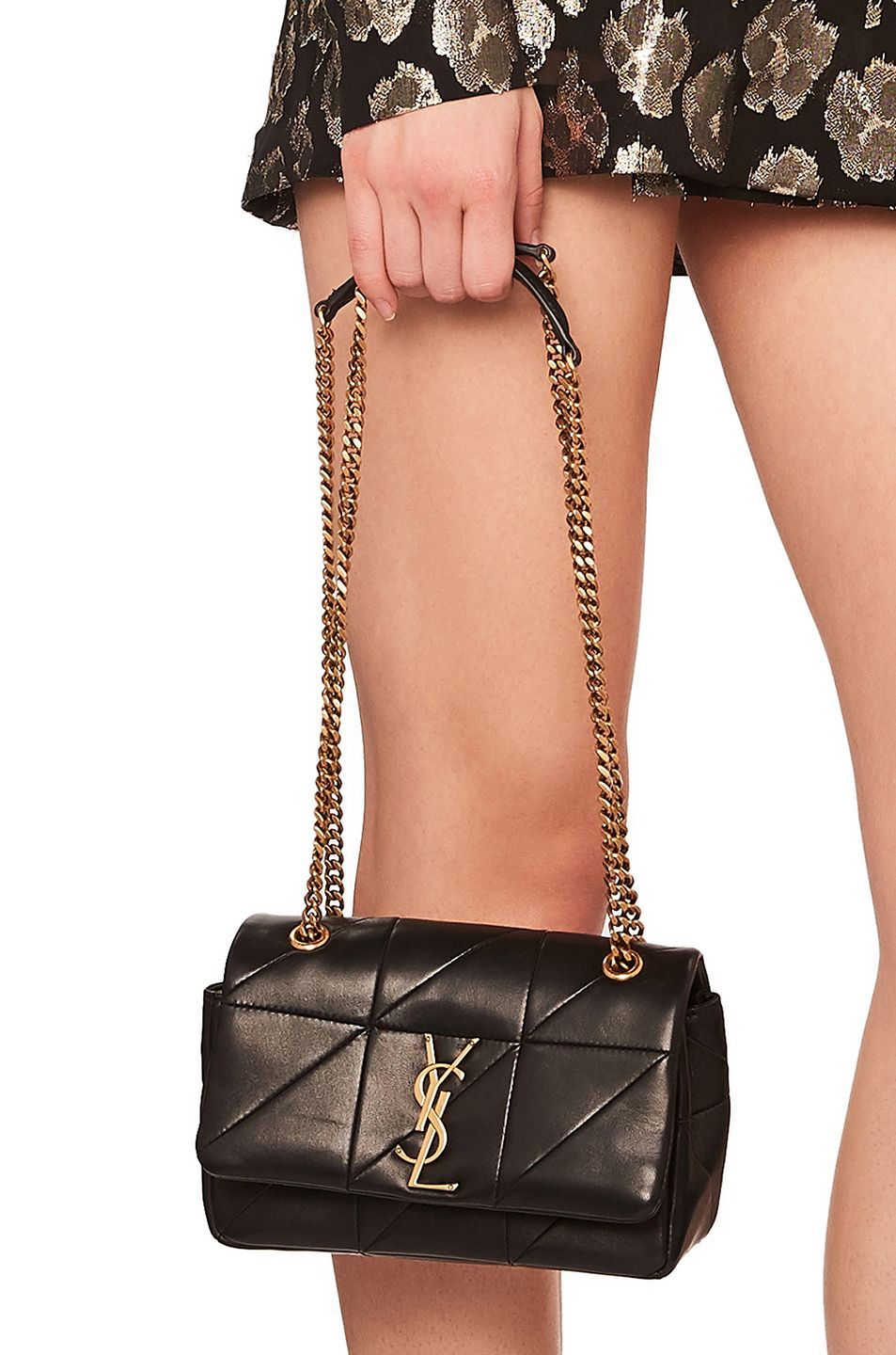 SAINT LAURENT Small Patchwork Leather Monogramme Chain Bag.  saintlaurent   bags  shoulder bags  leather  lining   d9c531375ebe1