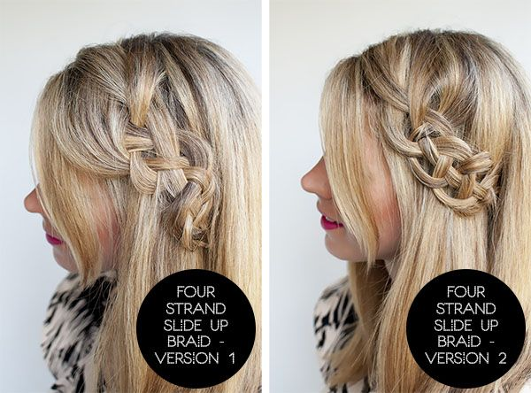 Hairstyle Tutorial Four Strand Braids And Slide Up Braids Hair
