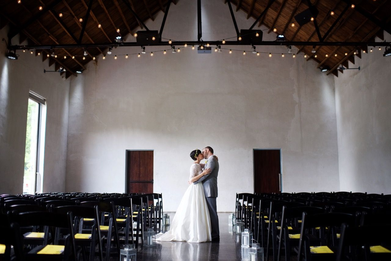 Simple morning wedding ceremony.   Courtesy Justin Wright Photography