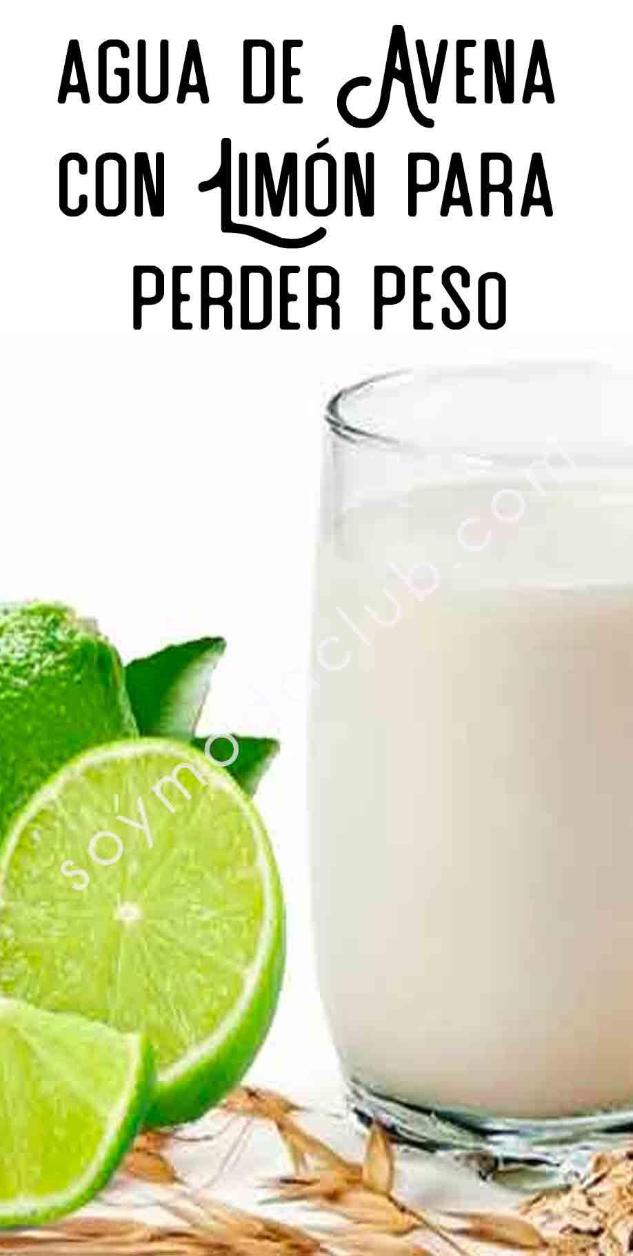Agua De Avena Con Limón Para Perder Peso Lemonade Smoothie Food Good Food