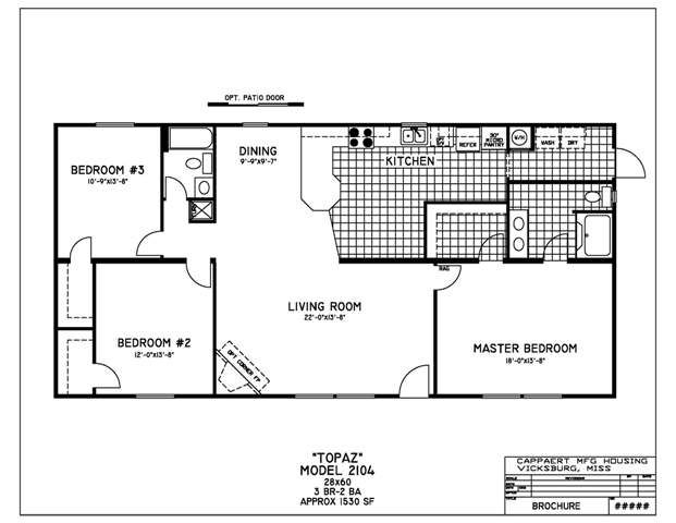 3 bedroom 2 bath double wide floor plans gurus floor for 3 bedroom double wide floor plans
