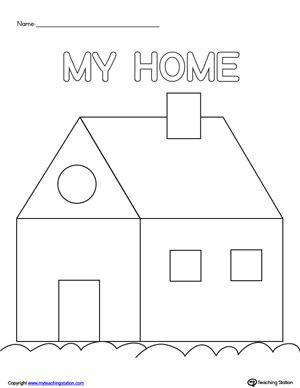 house scissor practice tema my huis scissor practice preschool cutting practice scissor skills. Black Bedroom Furniture Sets. Home Design Ideas