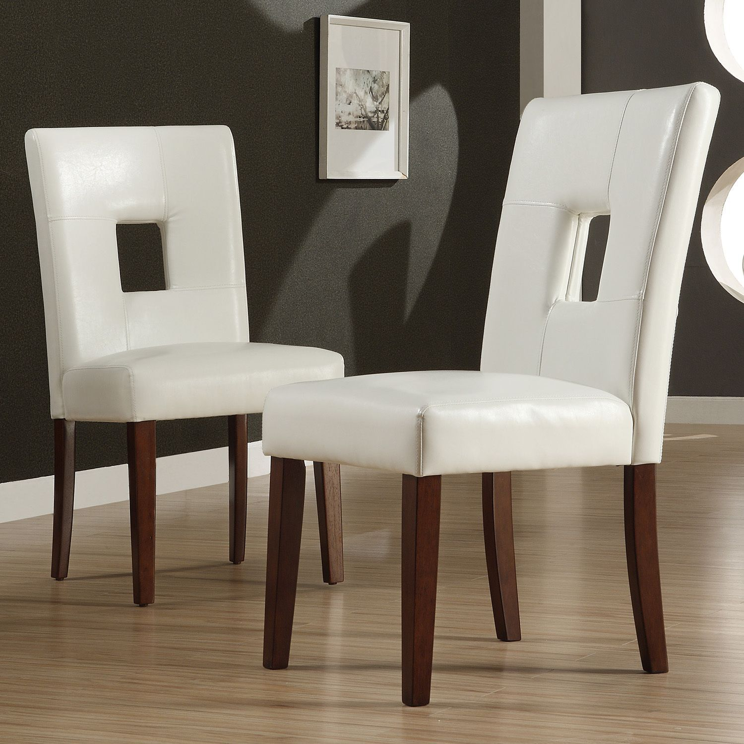 Alsace White Faux Leather Dining Chairs (Set Of 2) By