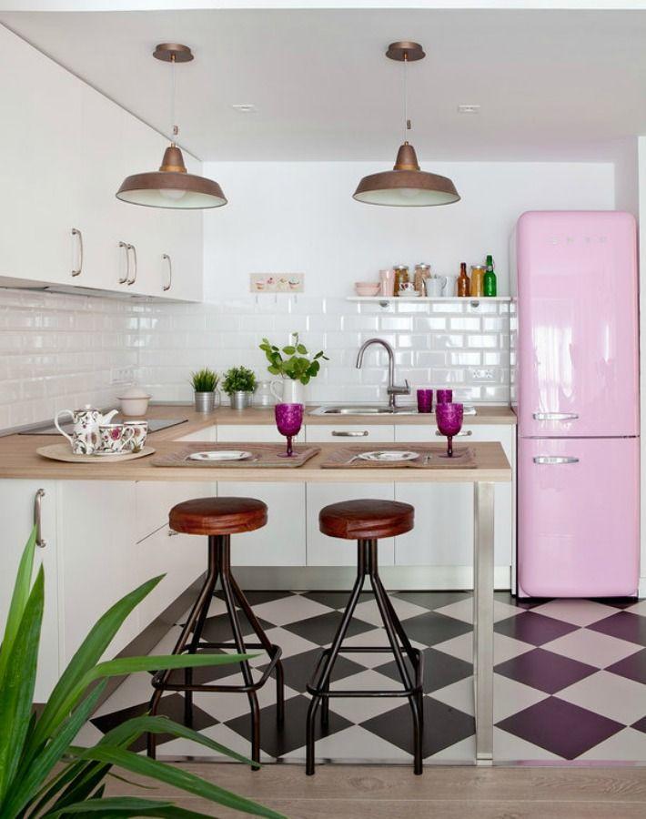 8 trucos para renovar la cocina sin gastar mucho dinero - Cambiar suelo cocina sin quitar muebles ...
