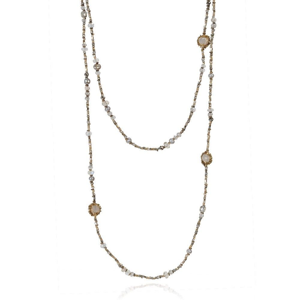 DANA KELLIN PARSON NECKLACE $350 Sparkling metallic beads create this everyday Dana Kellin original.