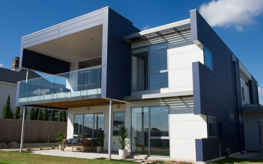 Modern Mixed Material Facade Double Storey Home Case