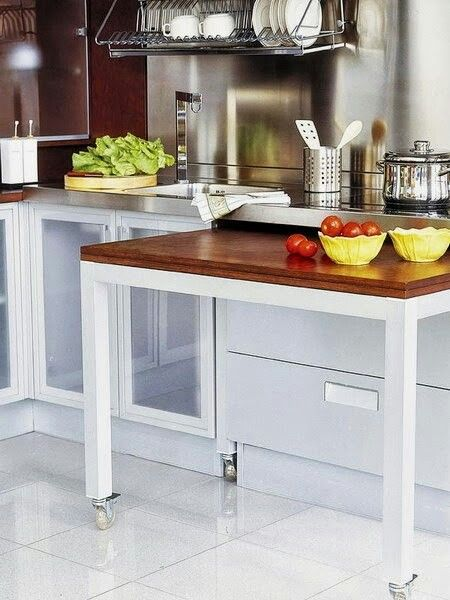 Hidden Table Home Kitchens Kitchen Design Trendy Kitchen