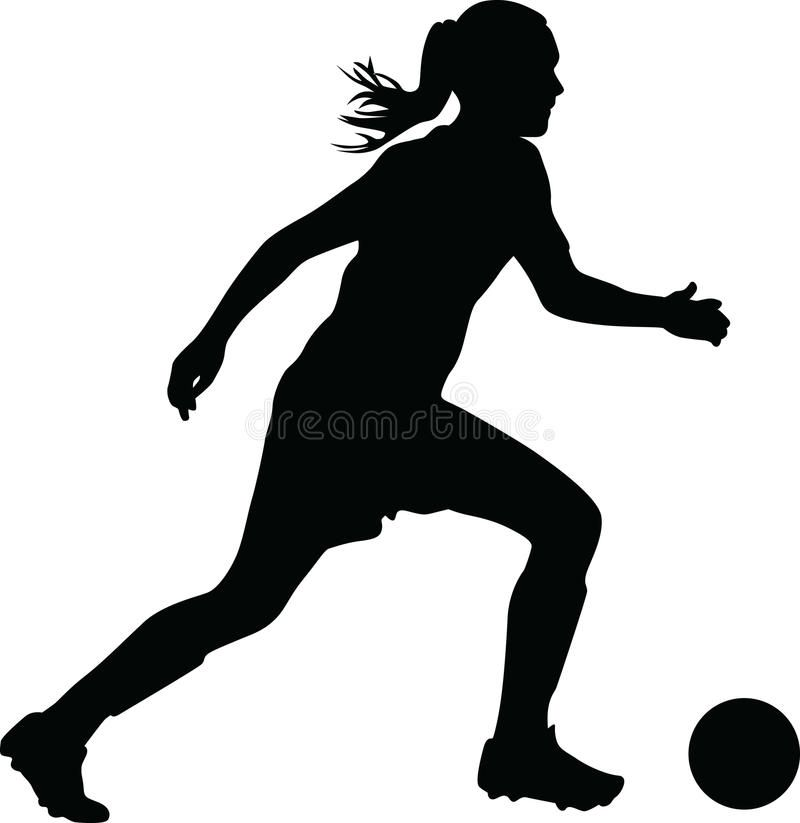 Woman Soccer Player Vector Illustration Womens Soccer Soccer Players Soccer