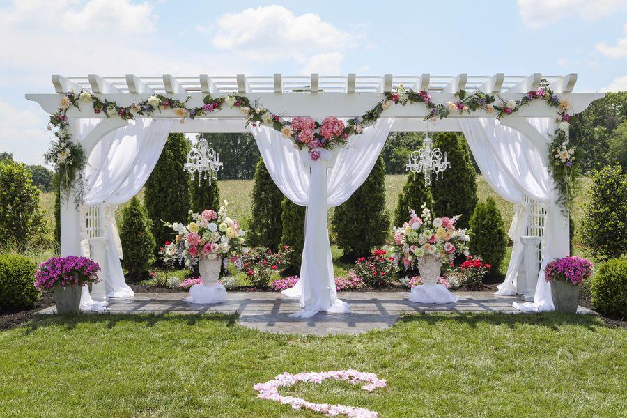 Pink Victorian Fairy Tale Wedding Pergola