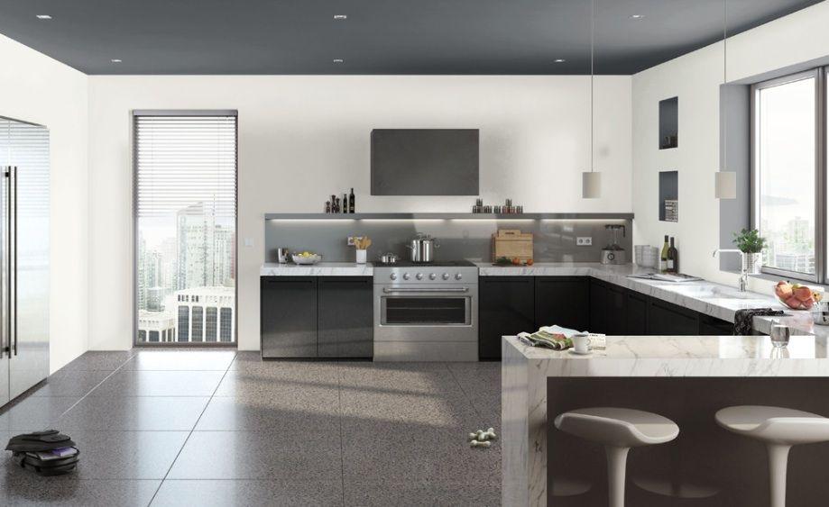 modern black and white kitchen 10 Amazing Modern Kitchen Cabinet ...