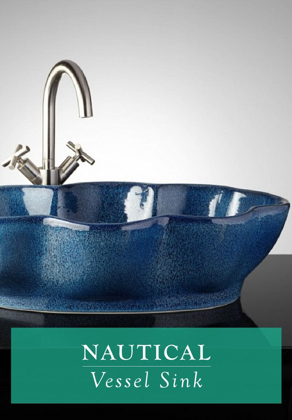 Complete the nautical look in your guest bathroom with this hand ...