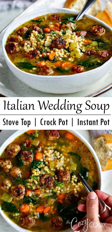 Italian Wedding Soup in 2020 Italian wedding soup, Stew