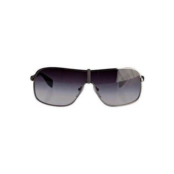 254f3abe48 Prada Prada Sport men s gunmetal metal wrap shield sunglasses ❤ liked on  Polyvore featuring men s fashion