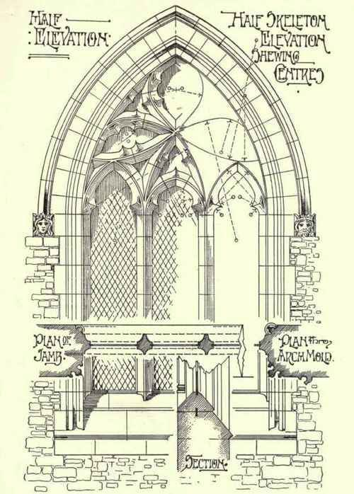 Building Gothic Architecture DrawingHistorical