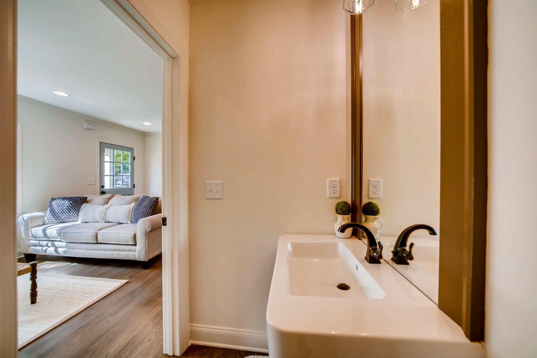 The View From The Powder Room Right Off Of The Living Room Discoveratl Atlantahomebuilder Atlantahomer Bathroom Renovations Interior Renovation Renovations