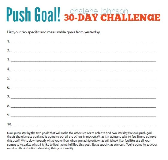 Chalene Johnson's 30 Day Push: Part 1 | Things for My Wall ...
