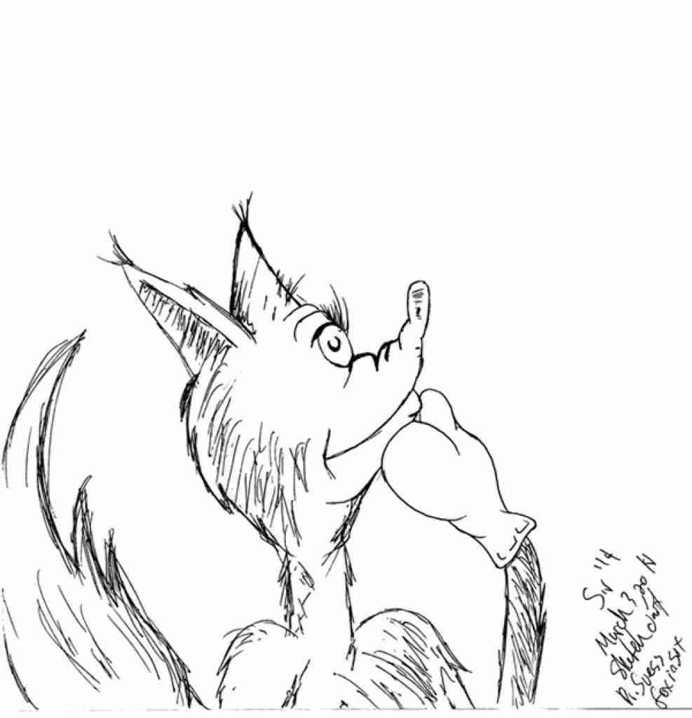 Fox In Socks Coloring Pages Collection