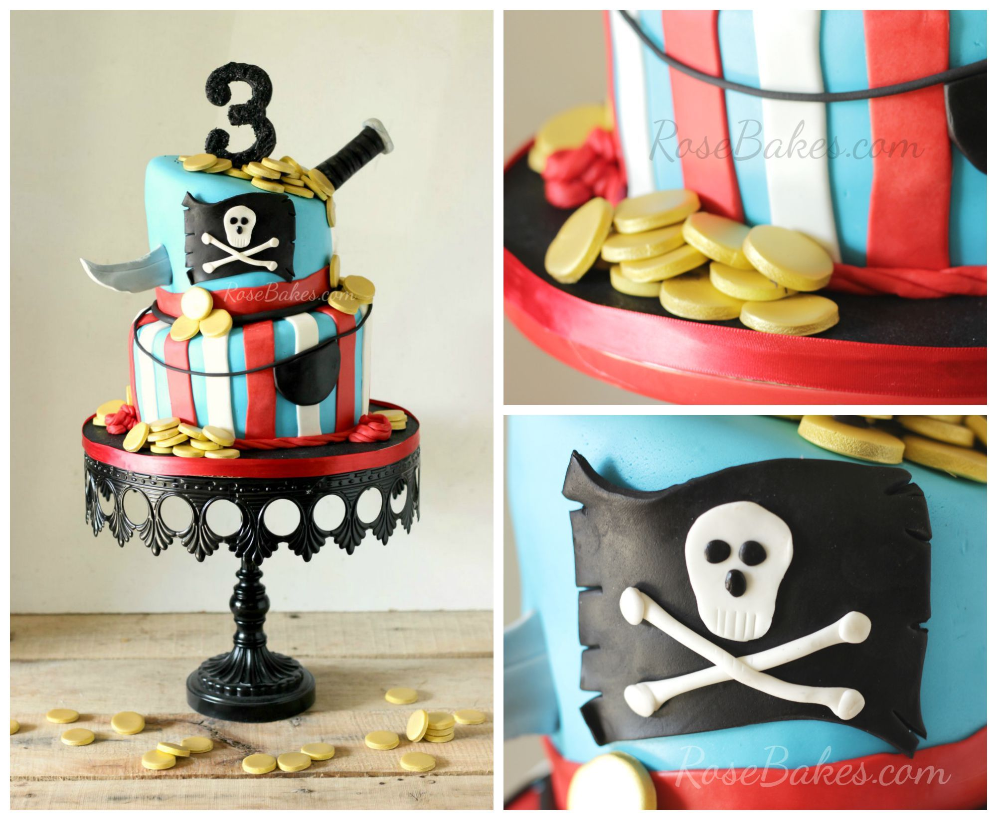 Pirate-Cake-with-Knife-and-Gold-Coins