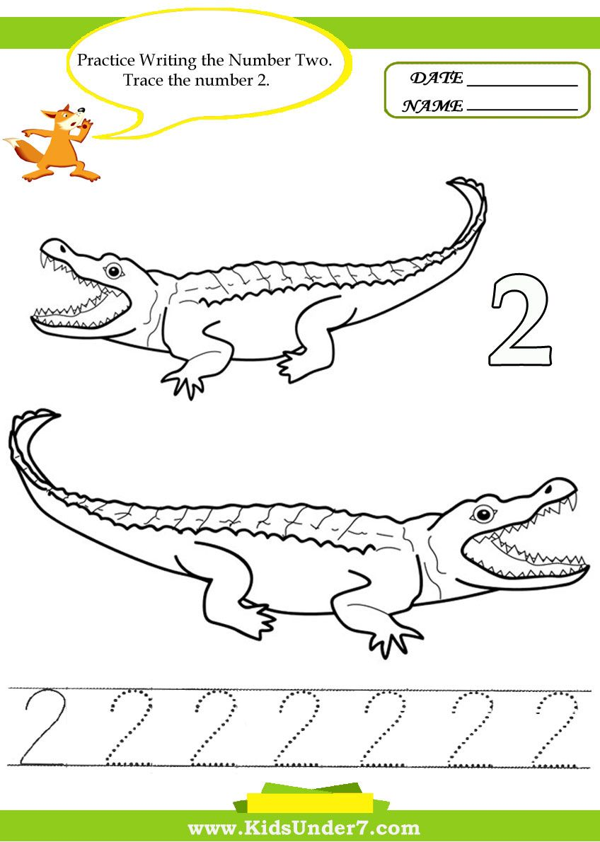 Kids Under 7 Number Tracing 1 10 Worksheet Part 2 Desktop