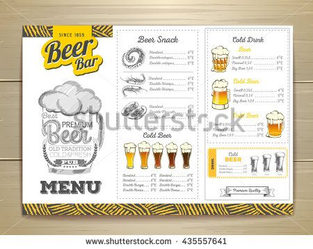 Vintage beer menu design trabaj Pinterest Menu and Vintage - beer menu