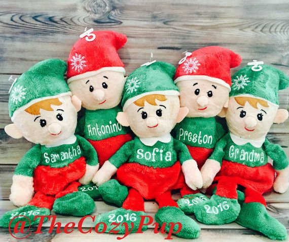 christmas elf babys first christmas plush christmas elf personalized elf personalized plush elv