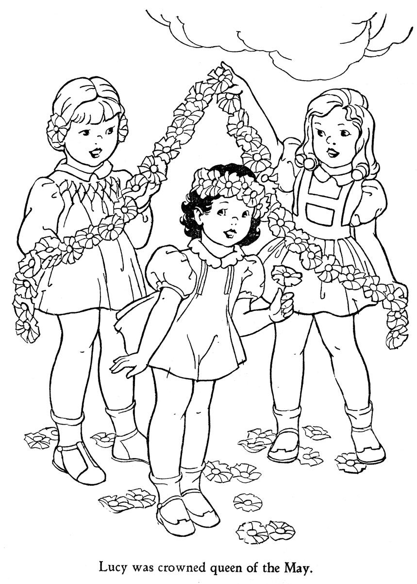 Childrens day colouring pages - May Coloring Pages May Day Coloring Pages