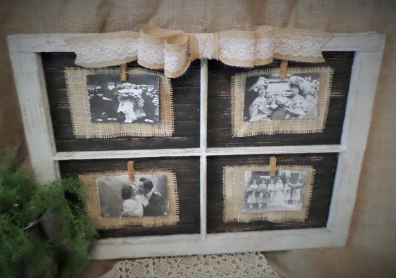 Reclaimed Vintage Window Frame Picture Holder by tatteredgrace