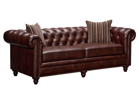 Best Chesterton Brown Sofa American Signature Furniture 400 x 300