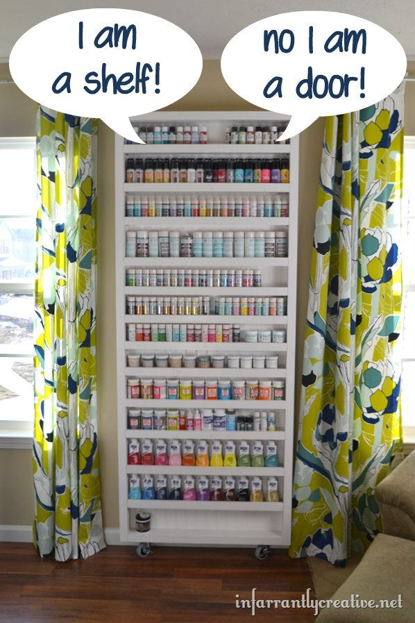 Paint shelf with hidden door door storage ironing boards and storage - Ironing board solutions for small spaces ideas ...