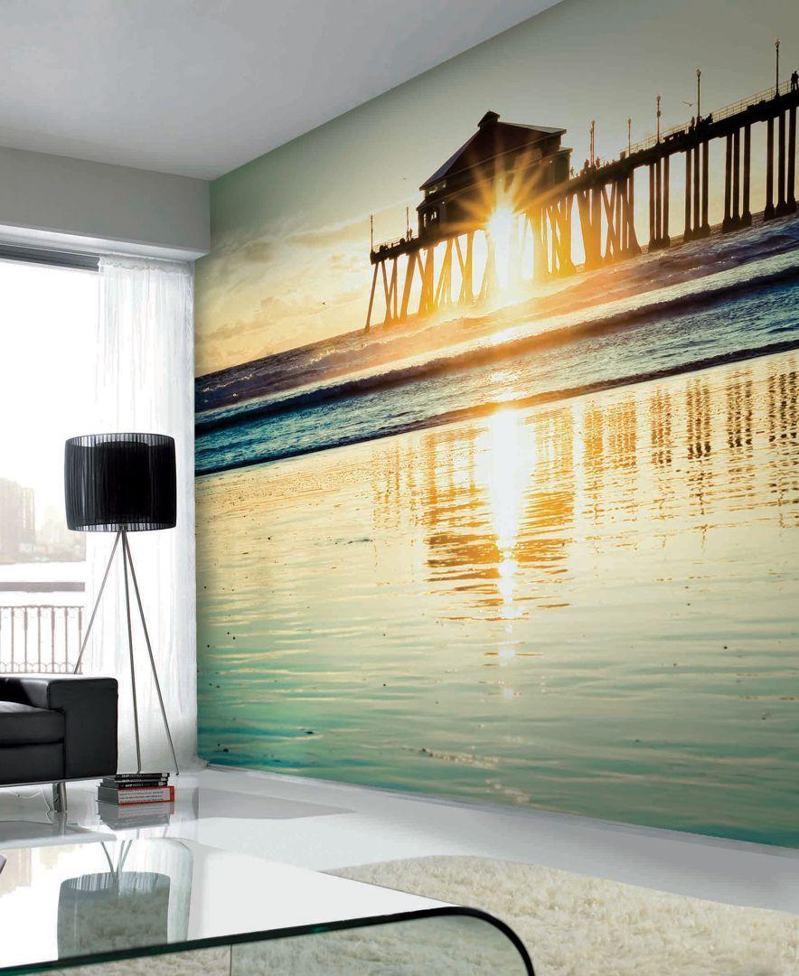 Graham & Brown Sunset by the Pier Wall Mural Wallpaper | Wall murals ...