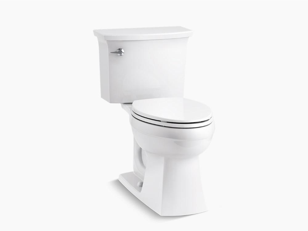 K 45983 Elmbrook The Complete Solution Comfort Height Two Piece Elongated 1 28 Gpf Toilet Kohler Toilet Bathroom Styling Kohler
