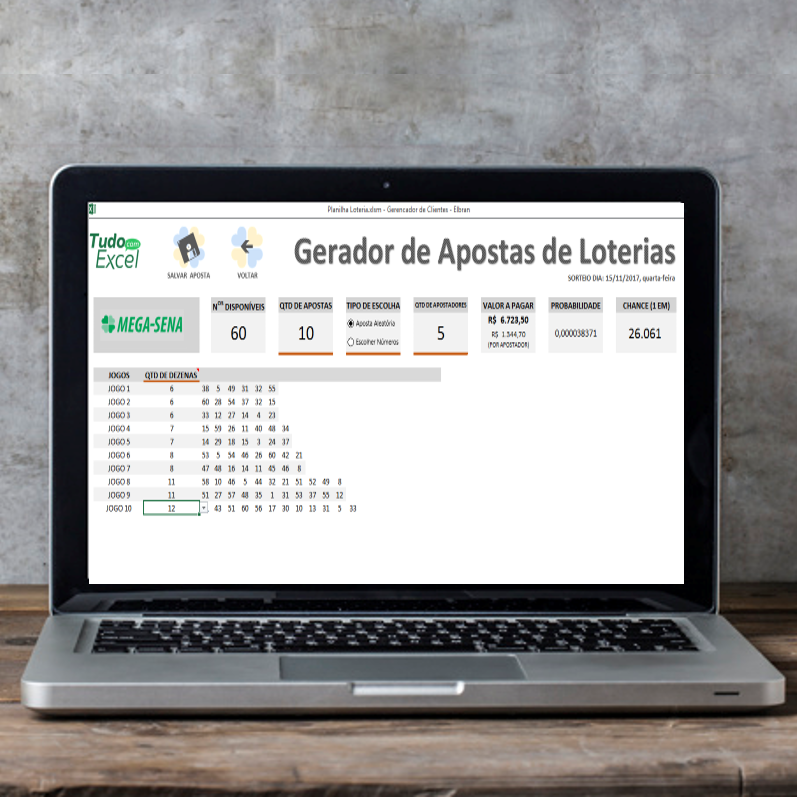 Planilha Gerador de Apostas de Loteria 🔗 linktr.ee
