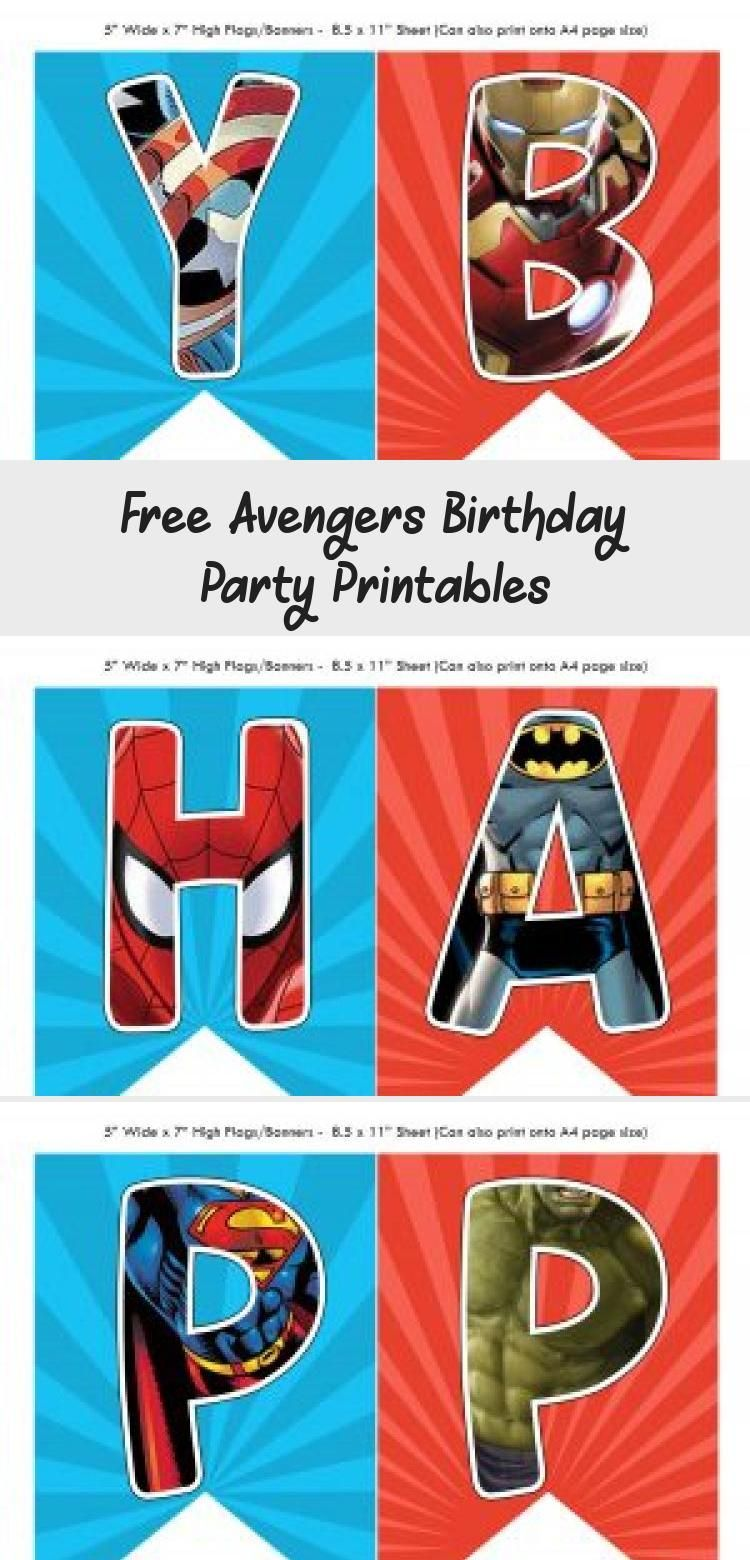 The Avengers Happy Birthday Printables. Looking for a Free ...