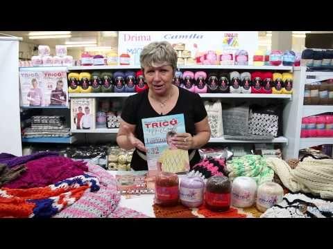 Vitória Quintal no Armarinho São José - Peças feitas com fios Camila - YouTube