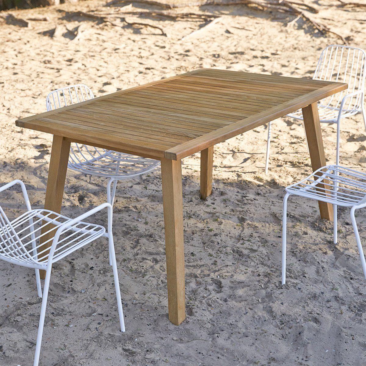 Table De Jardin En Bois De Teck 140 Pamoa - Taille : Taille ...