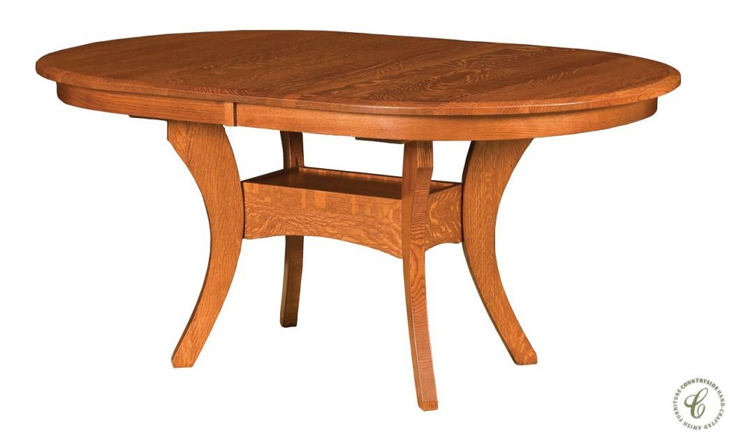 Amish Kitchen Tables Knox County Oak Oval Dining Table | Oval Dining Tables,  French