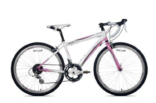 Giordano Libero 1 6 Road Bike 24 Inch Light Pink White Kids