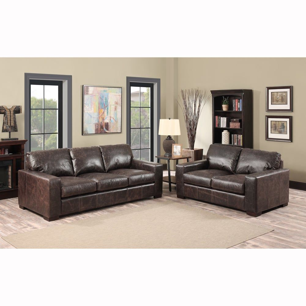 Overstock Com Online Shopping Bedding Furniture Electronics Jewelry Clothing More In 2020 Leather Sofa And Loveseat Top Grain Leather Sofa Leather Sofa