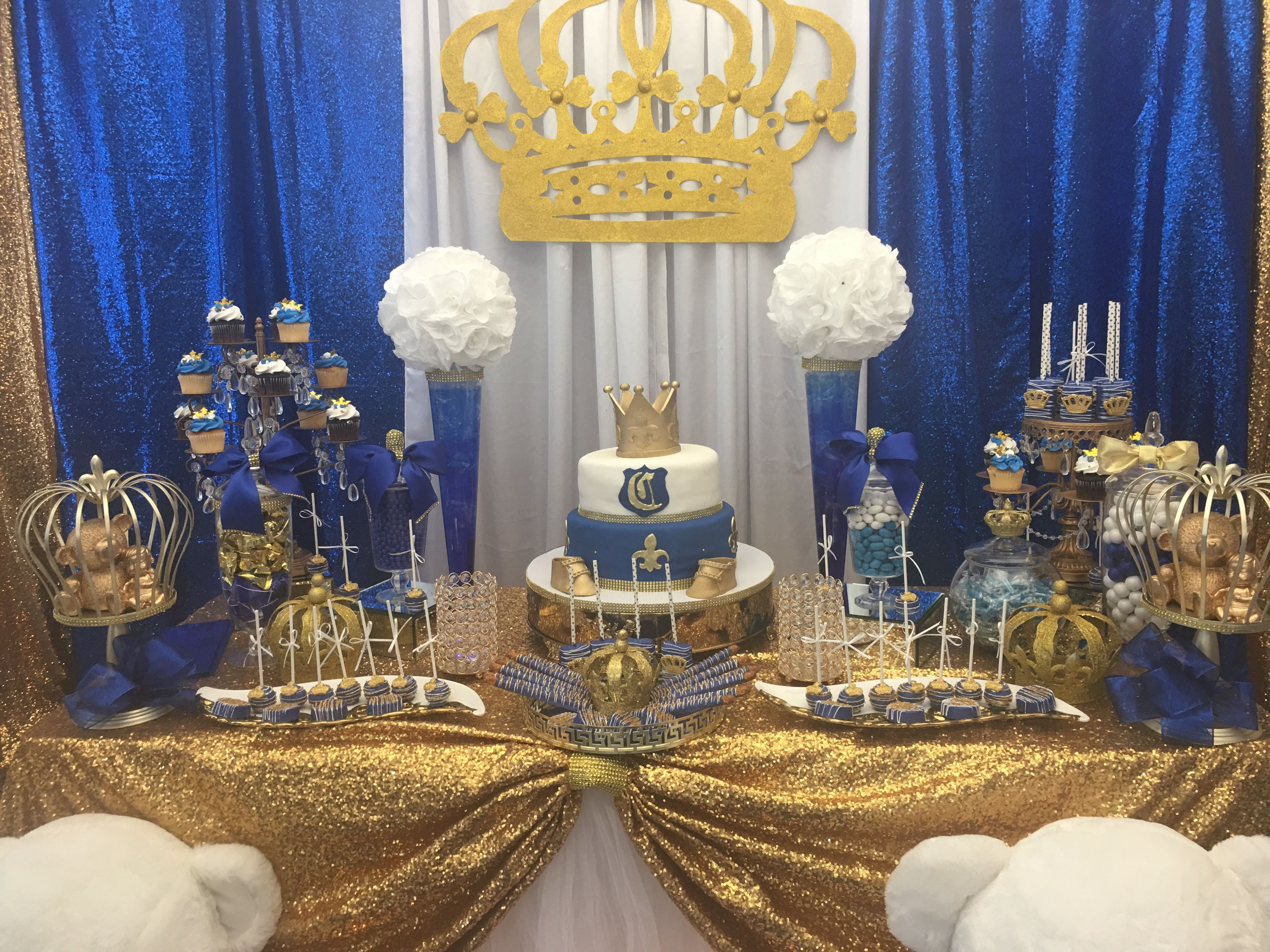 Royal theme baby shower cake   Baby shower cakes, Baby ...