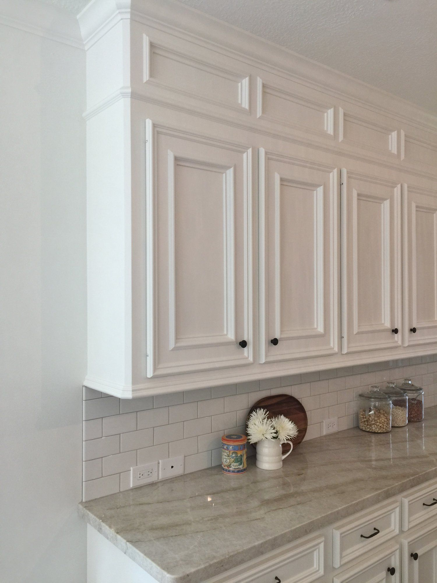 Hinges For Kitchen Cabinets After - Modified cabinetry with new knife hinges replacing exposed hinges