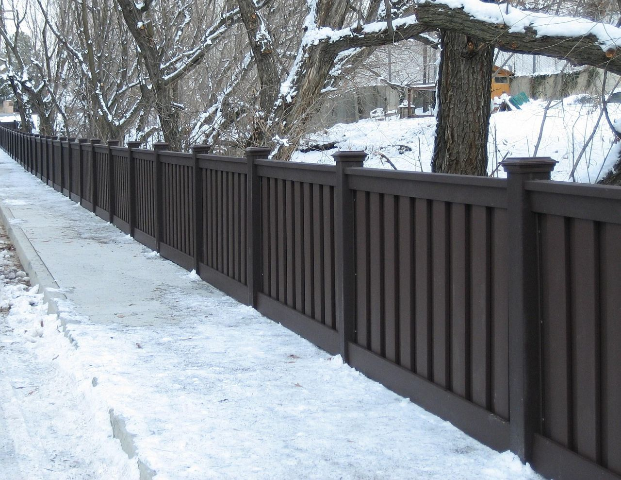 Dark Brown Vinyl Privacy Fence Trex Fencing Trex Fencing Cost