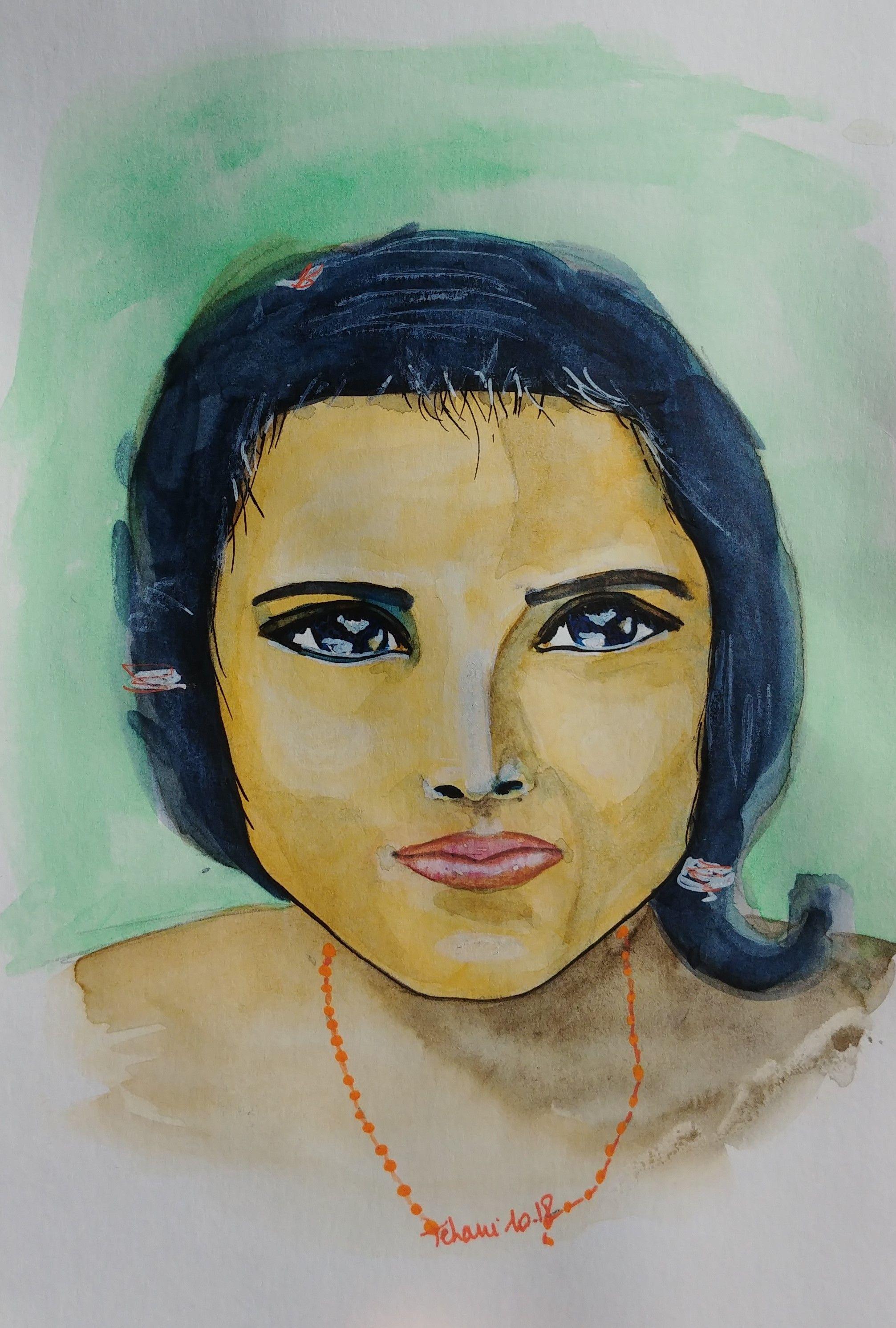 Portrait De Jeune Femme Indienne Portrait