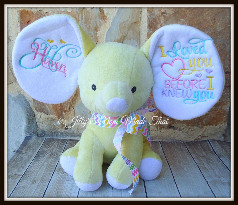Yellow Stuffed Dumbo Elephant I Loved You Before I Knew