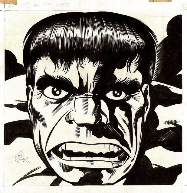 the Incredible Hulk by Jack Kirby by artyfreeman, via Flickr