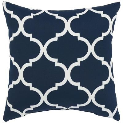 Home Decorators Collection 40 In Landview Navy Square Outdoor Throw Magnificent Home Depot Decorative Pillows