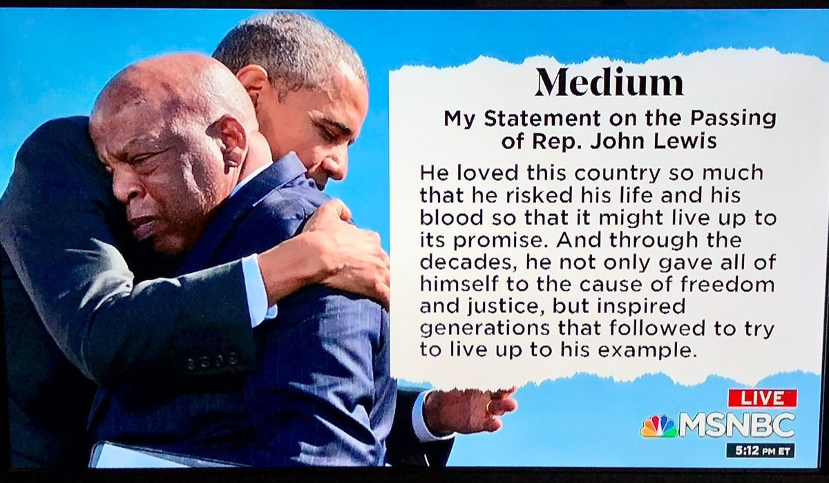 Barack Obama on the passing of John Lewis 20200718 in 2020