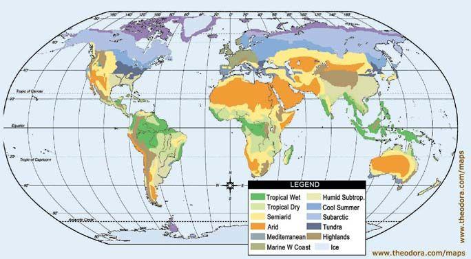 World climate map courtesy of theodoramaps used with world climate map courtesy of theodoramaps used with gumiabroncs Choice Image